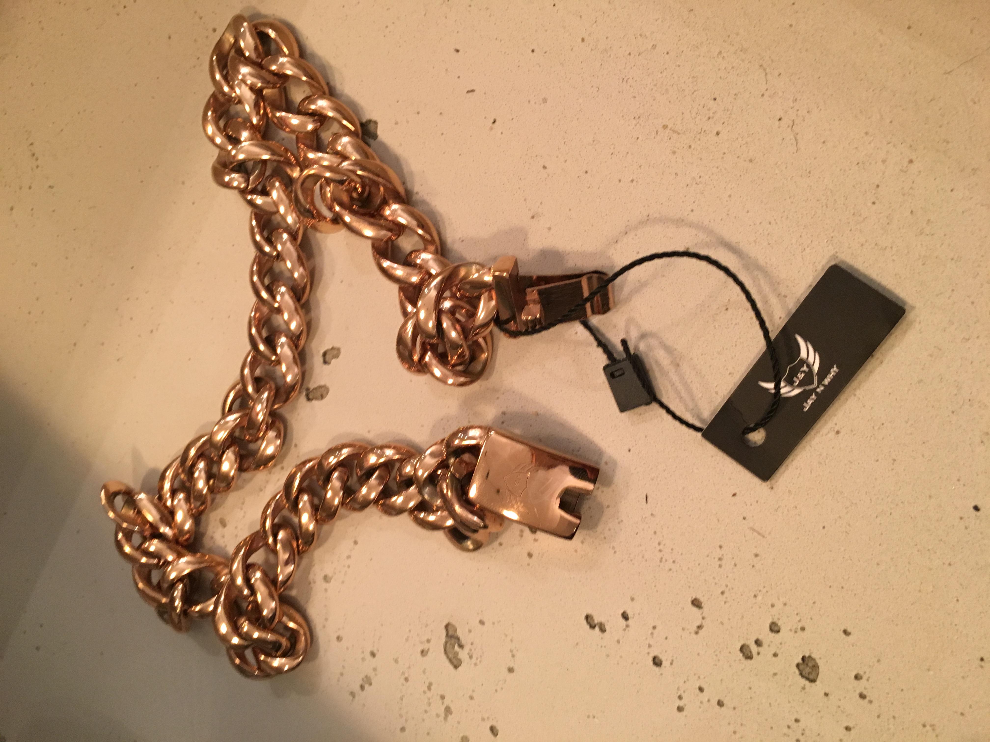 j y stainless steel rose gold kette the fancy side. Black Bedroom Furniture Sets. Home Design Ideas